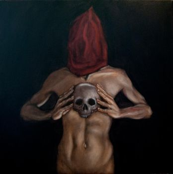Self Portrait With Skull by ars-anima
