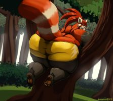 Caught in a Tree by Kazecat