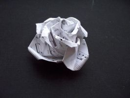 Origami Paper Rose by sharmz