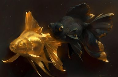 Golden Fishes by Mr--Jack