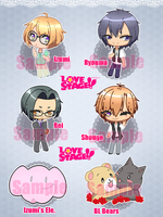 Love Stage! Stickers by PokeCardz
