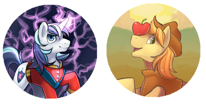 Apples and Lightning by CaramelBrulee