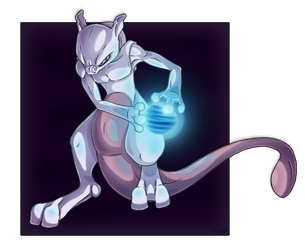 Mewtwo by chezzepticon
