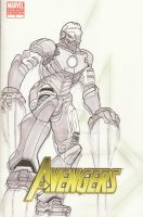 Aveng 1 sketch cover Iron Man by MarOmega