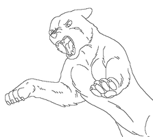 Ginga Lineart free makeble 5 by MoonString