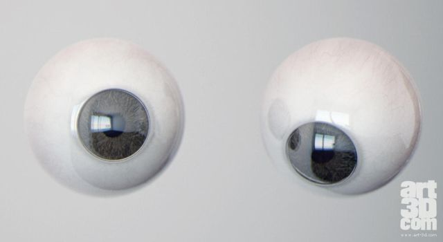Free realistic Eye model by ChrRambow