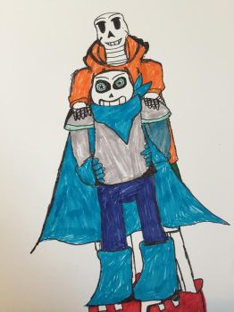 Underswap sans and papyrus by shadowthehedgehogzx