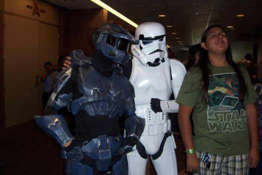 Master Chief n StormTrooper by R1chard69