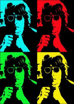 John Lennon Pop Art by MexicanSeafoodCobain