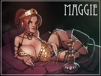 Maggie and a hookah by Balsamique