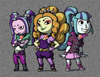 Wind Waker - The Dazzlings by AWildDrawfagAppears