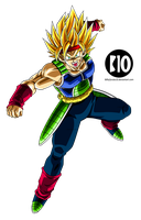 Bardock SSJ2 DBZ Dokkan Battle Render by BillyZar