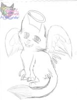 Jett the wolffox Angel by AngelCnderDream14
