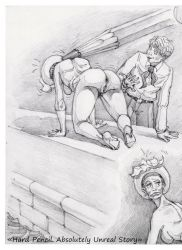 Hard Pencil and arrogant lady. by OzorNick