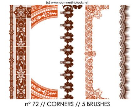 PHOTOSHOP BRUSHES : corners by darkmercy