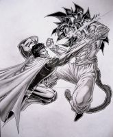 Goku Ssj4 vs Superman by TicoDrawing