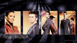 The tenth Doctor and Martha by HappinessIsMusic