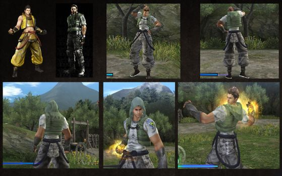 SB3U Ieyasu as Chris Redfield STARS by monkeygigabuster