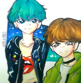 Yoonseok Redraw by minhooskecthes