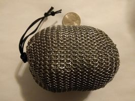 Chainmail pouch - Small links, full size, full by demuredemeanor