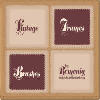 Prermium Vintage Frames Brush by Romenig