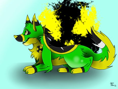 Toxic the Wolf by AJHusky