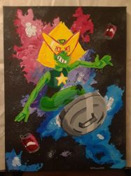 Peridot the Space Rock, con painting