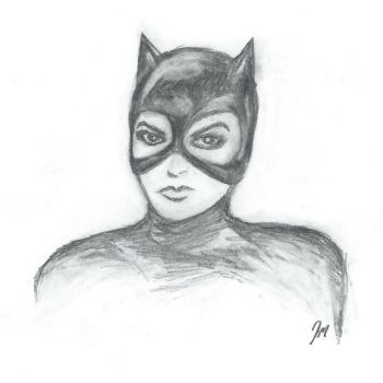 Catwoman (Pencil Sketch) by jonmarkiewitz