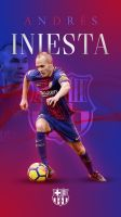 Andres Iniesta Phone Wallpaper 2017/2018 by GraphicSamHD