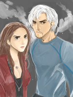 maximoff twins by Hopor