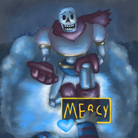 Papyrus 'Fight' by ShadedPenumbra
