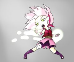 Chibi Sakura ready to fight by SakuraHaruno178