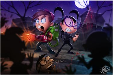 Timmy and Tootie Halloween by 14-bis