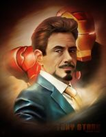 Tony Stark - Iron Man by VoydKessler