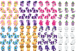 My Little Pony Sprites by TheLordofPies