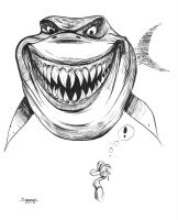 Daily Sketch: Bruce from Finding Nemo by gravyboy