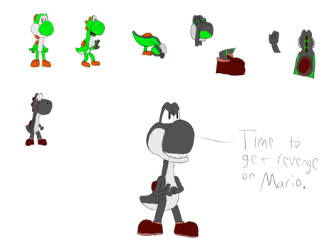 (Request) Green to Black Yoshi TF by Derek-the-MetaGamer
