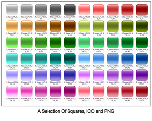 Glass Square Icons by OnlyEden