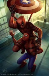 Stop stealing my game, Spidey! by keikei11