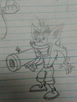 Sketch: Crash Bandicoot by MasonWMiles