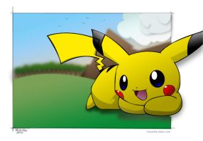 Greyteaser's Pikachu: Colored by Saber-Cow