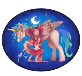 Chibi Usa And Helios by Jabbym
