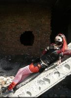 MysteriaViolent cyber goth girl in red by mysteria-violent