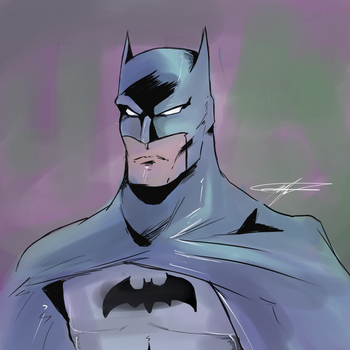 Batman by SparkyPantsMcGee