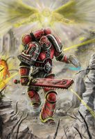 Blood angel charge by HrvojeSilic