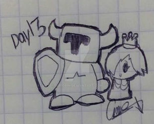 Inktober Day 13 Guarded by Soropin