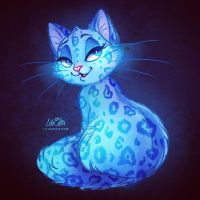 Blue Cat by LilaCattis
