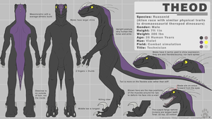 Theod - Reference Sheet 2.3 by CanineHybrid