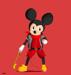 Mickey in Red by mrdaywhea