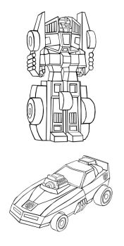 Transformers Sizzle Cartoon Model (Line Art) by Zobovor